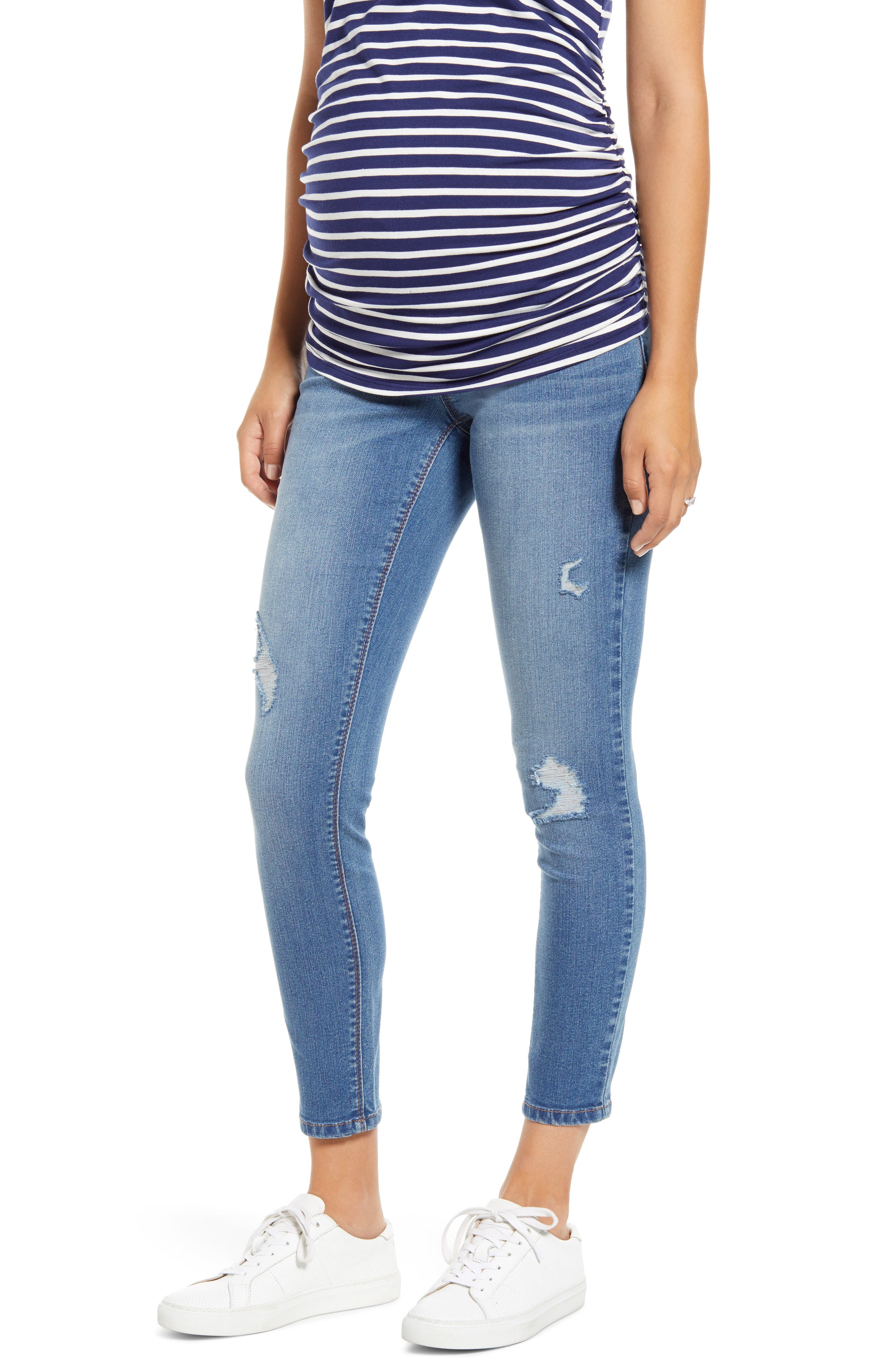 Women's 1822 Denim Re: denim Ankle Skinny Maternity Jeans