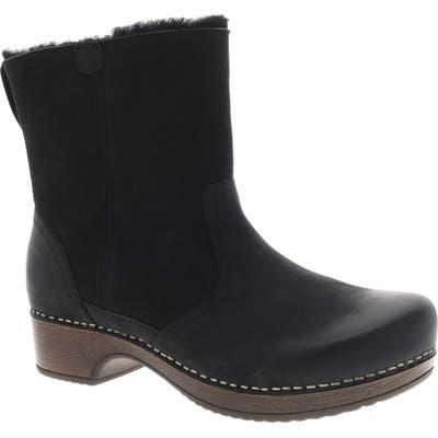 Dansko Bettie Genuine Shearling Lined Boot- Black