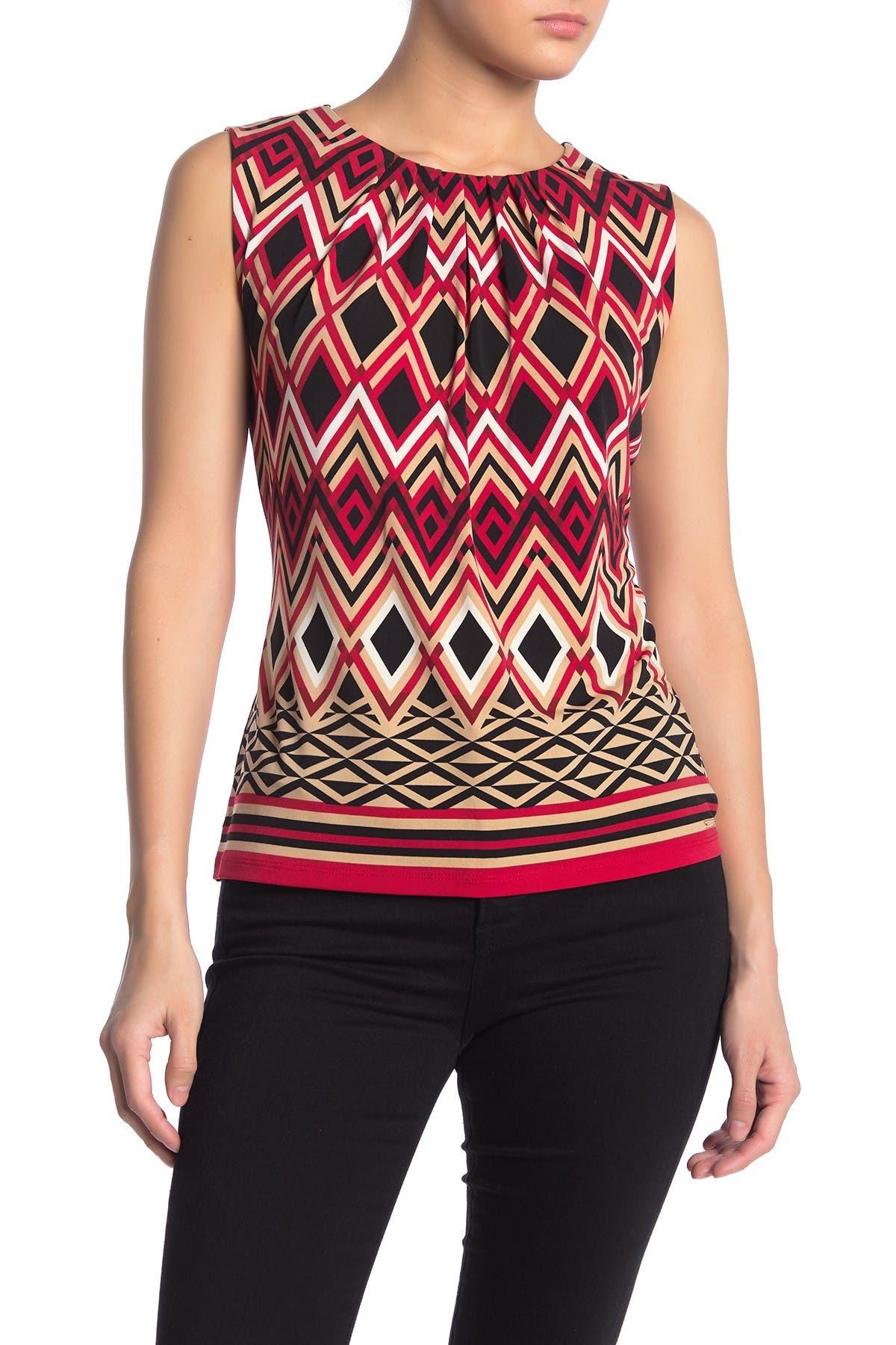 Image of Calvin Klein Pleat Neck Camisole