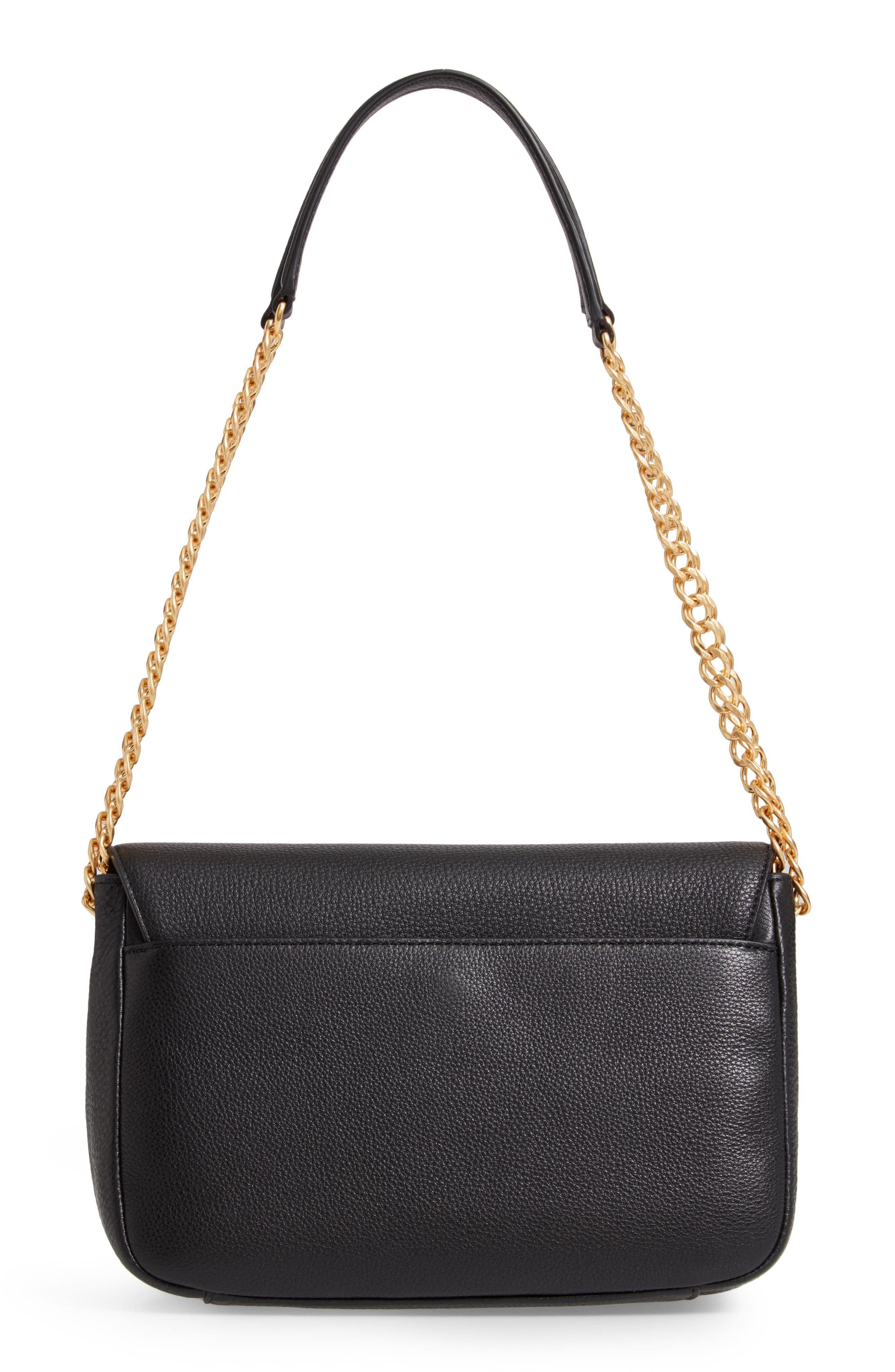 ,                             Chelsea Leather Shoulder Bag,                             Alternate thumbnail 5, color,                             BLACK
