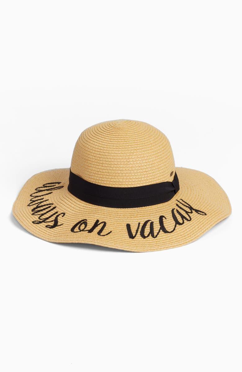 C.C<SUP>®</SUP> CC Straw Hat, Main, color, 250