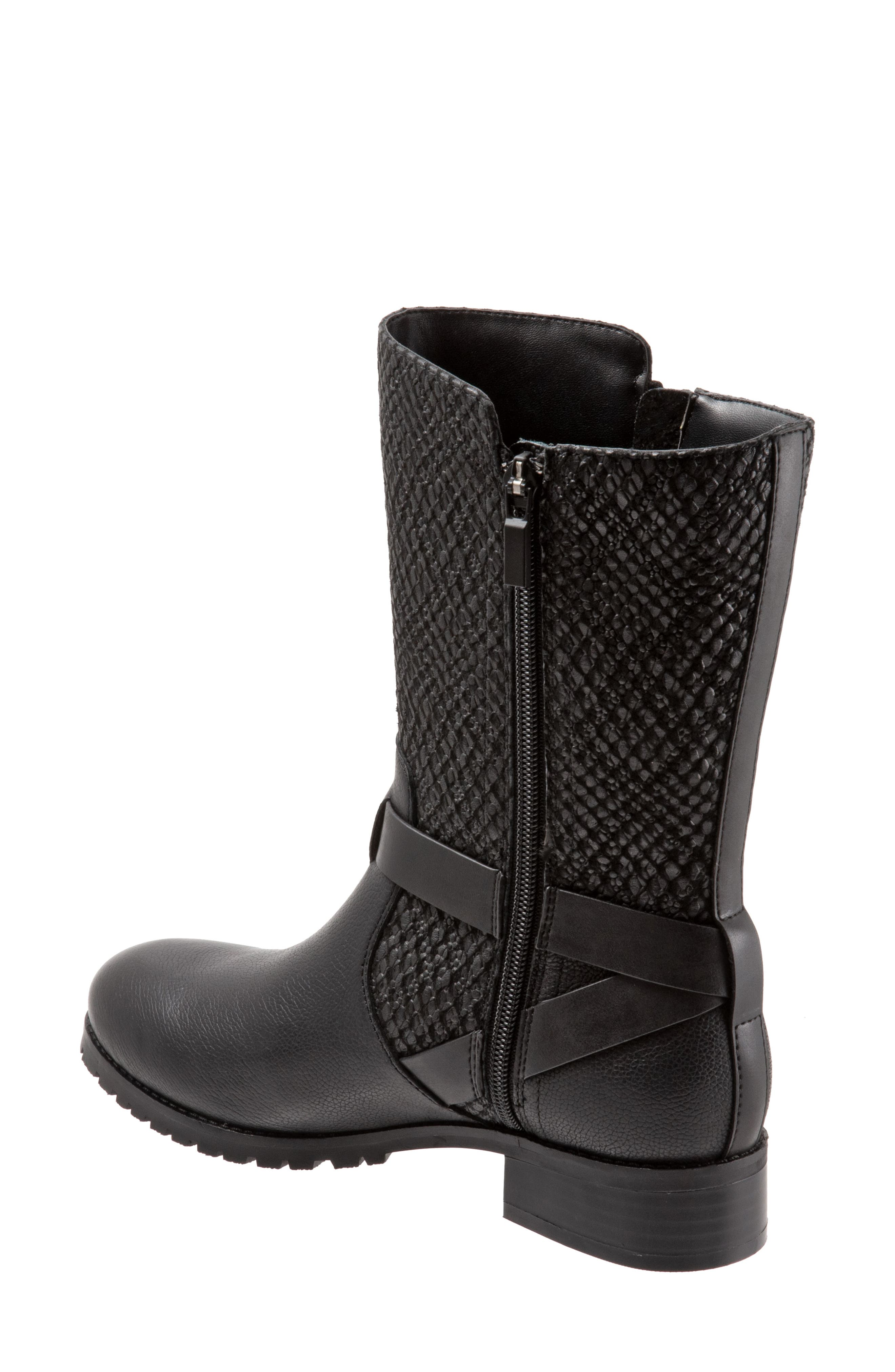 ,                             Marlowe Boot,                             Alternate thumbnail 2, color,                             BLACK REPTILE LEATHER