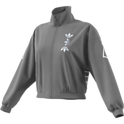 Adidas Large Logo Track Jacket, Grey