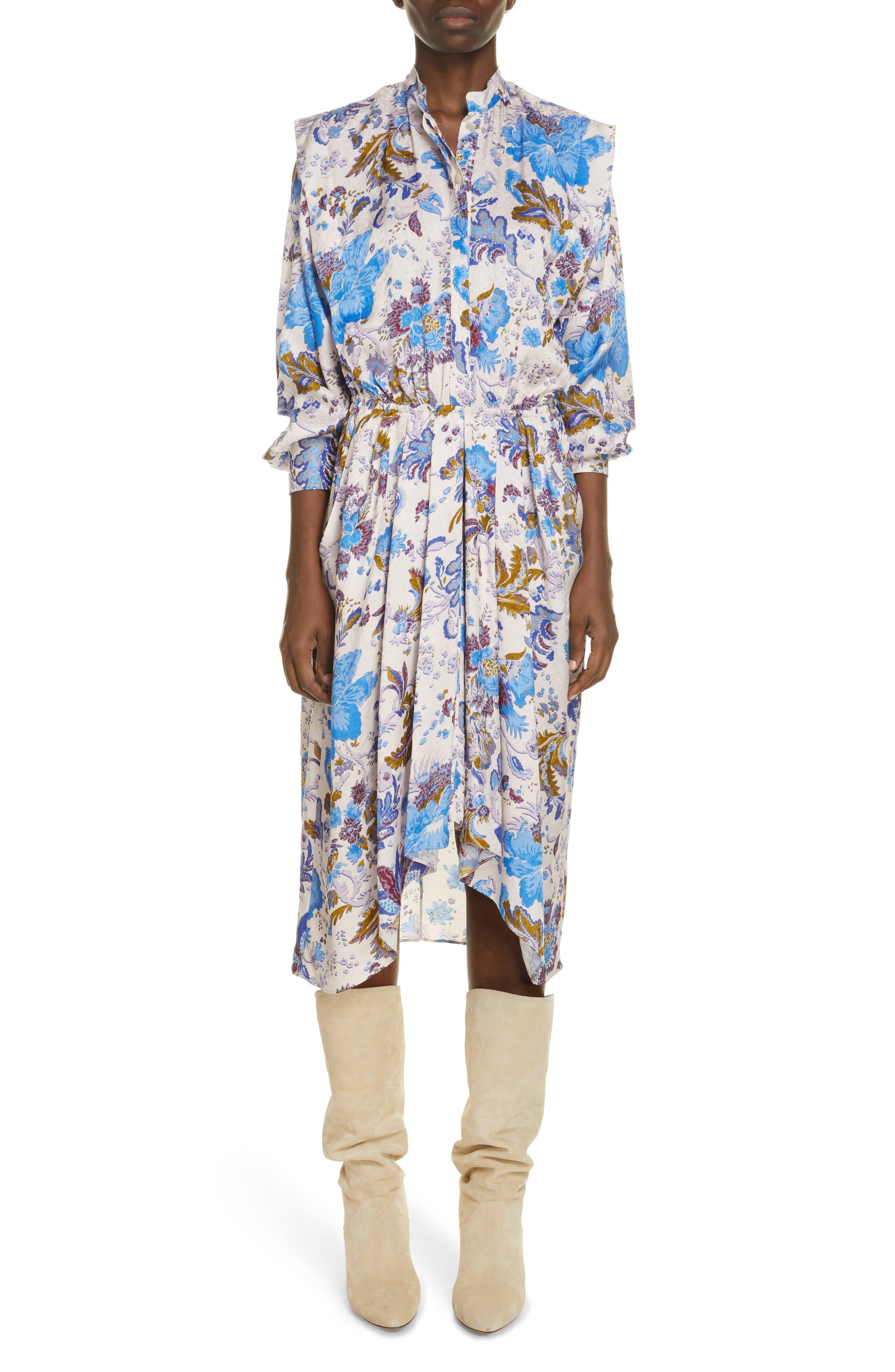 Women's Isabel Marant Etoile Okleya Floral Long Sleeve Dress