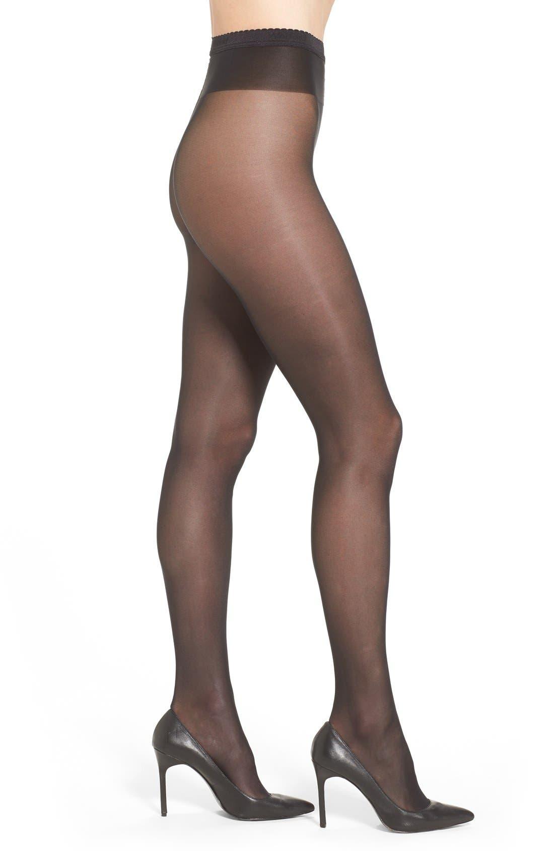 'Neon 40' Pantyhose, Main, color, BLACK