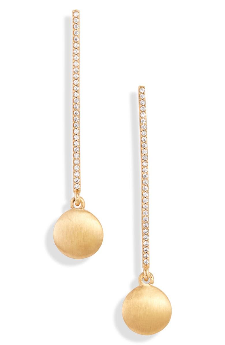 DEAN DAVIDSON Signature Pavé Pendulum Drop Earrings, Main, color, GOLD