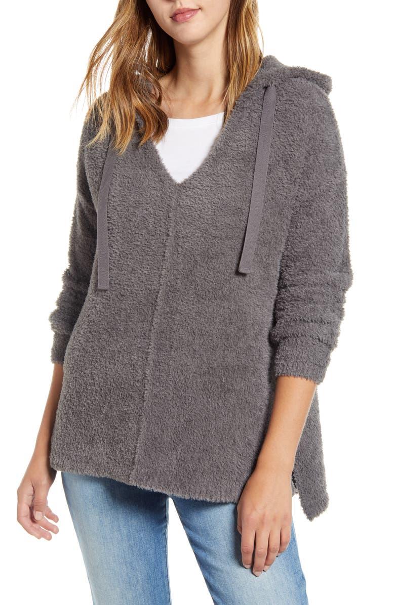 CASLON<SUP>®</SUP> Off-Duty Sweater Hoodie, Main, color, GREY CASTLEROCK