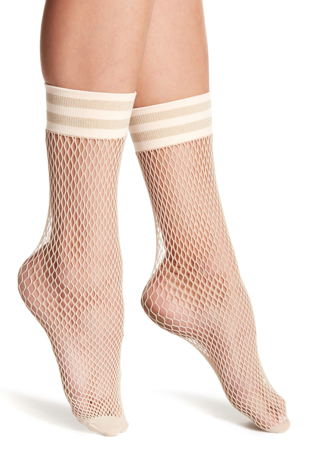 Image of Free People Riot Fishnet Crew Socks