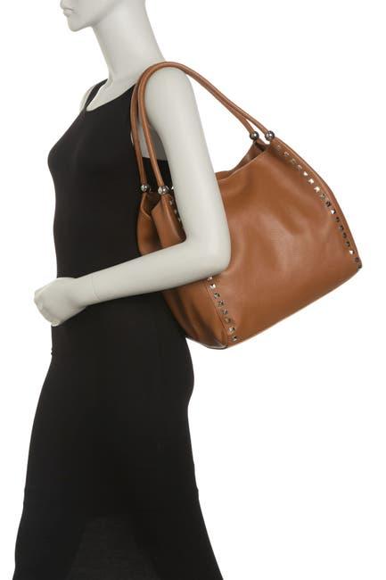 Image of Renata Corsi Studded Leather Shoulder Bag