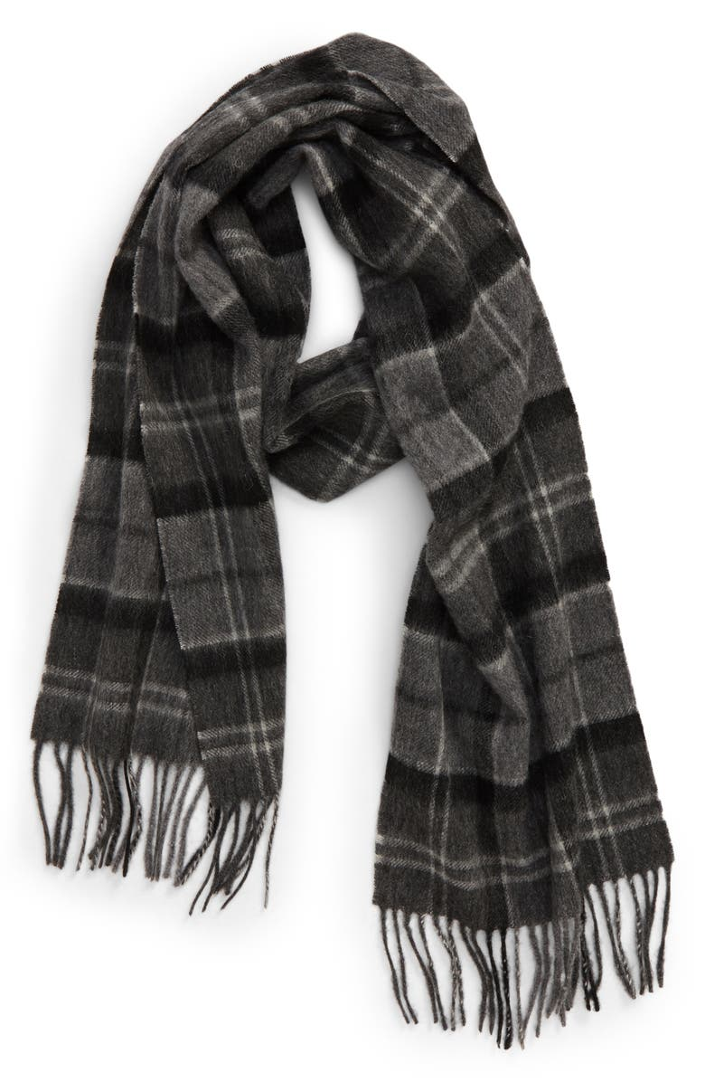 BARBOUR Merino Wool & Cashmere Scarf, Main, color, 001