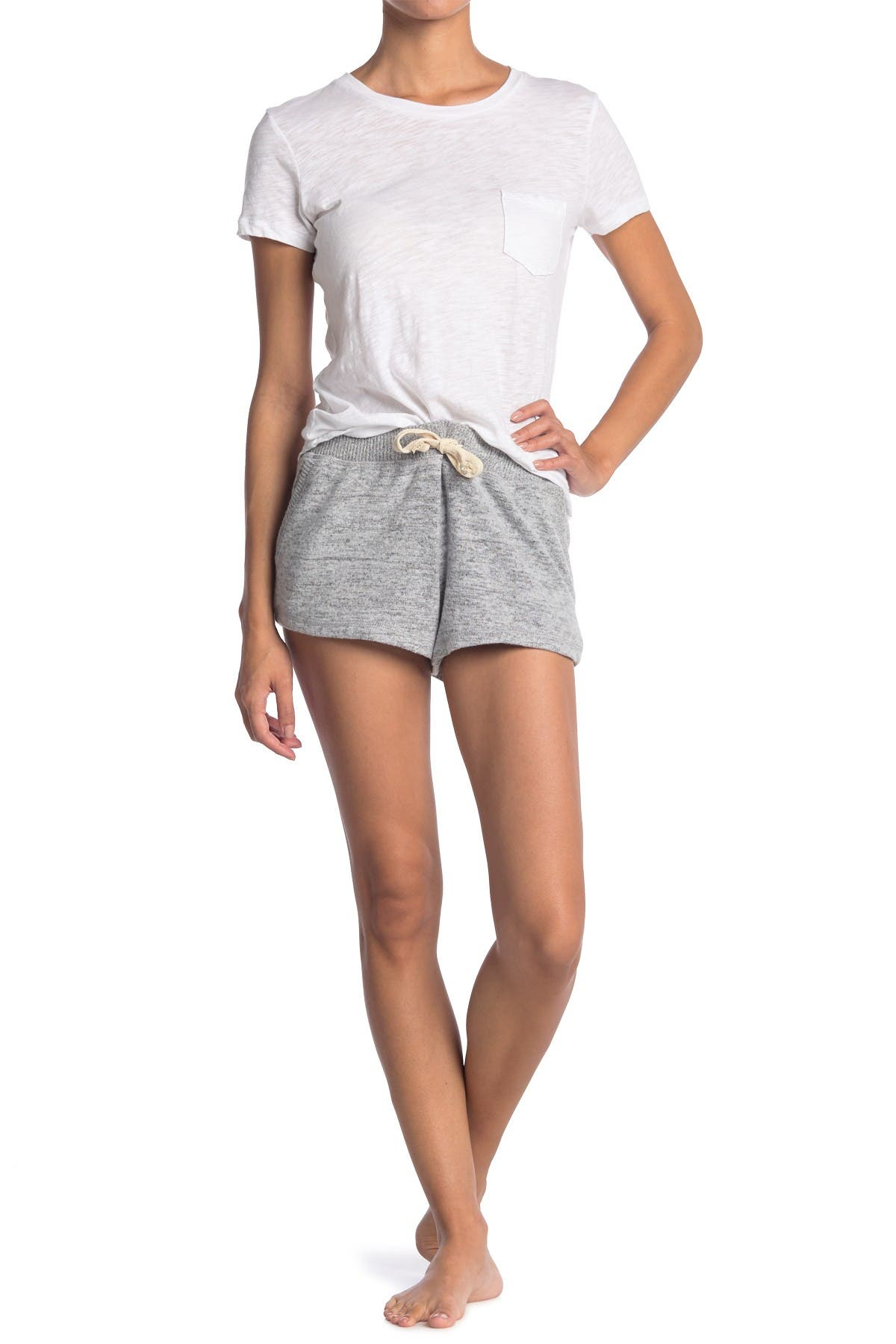 Image of Theo and Spence Yummy Brushed Knit Shorts