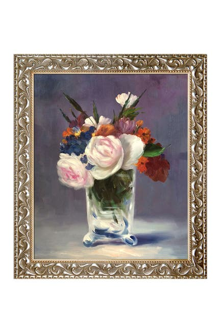"Image of Overstock Art Edouard Manet ""Flowers in a Crystal Vase"" Framed Canvas Wall Art"