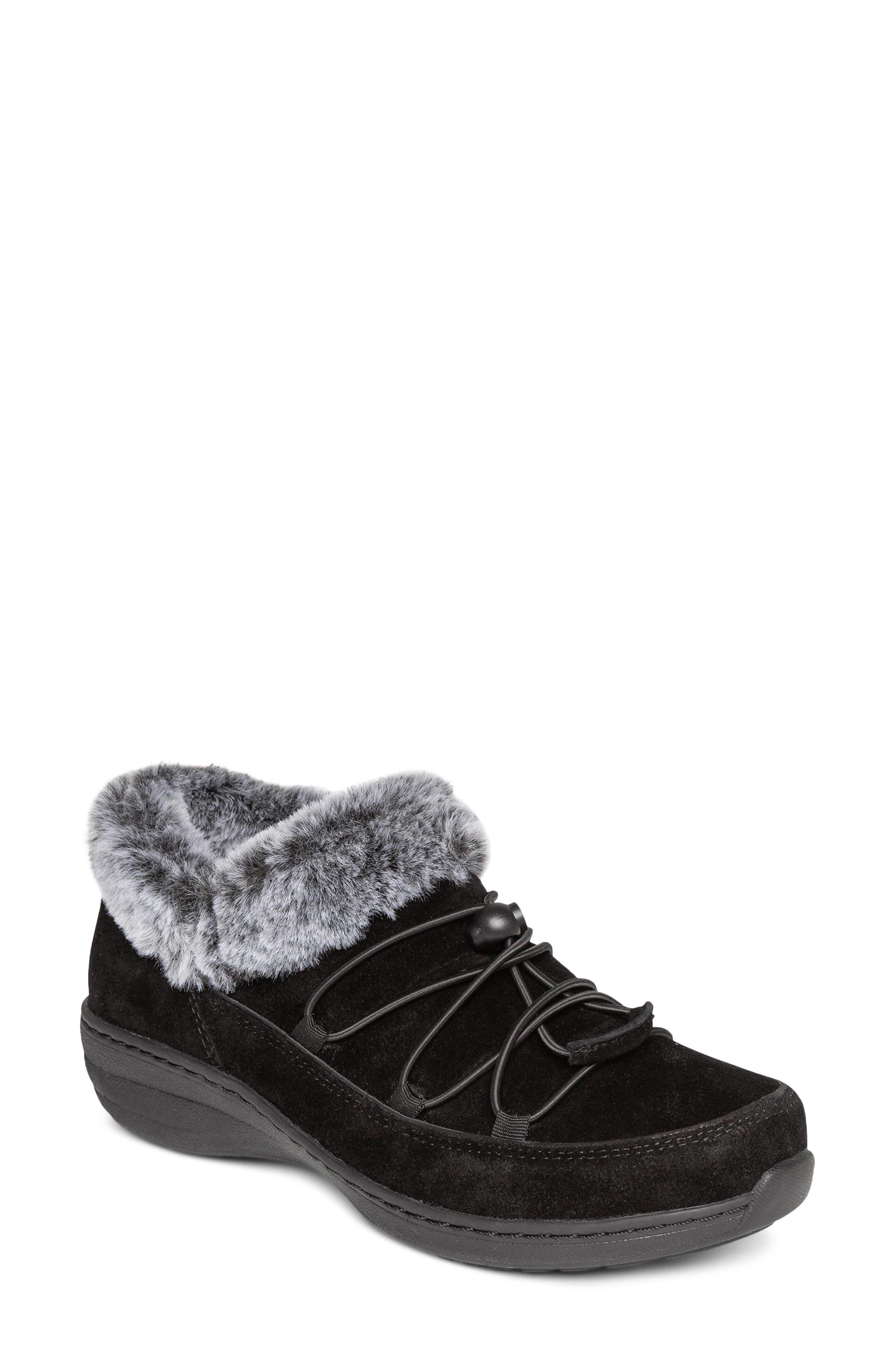 Aetrex Chrissy Faux Fur Lined Sneaker