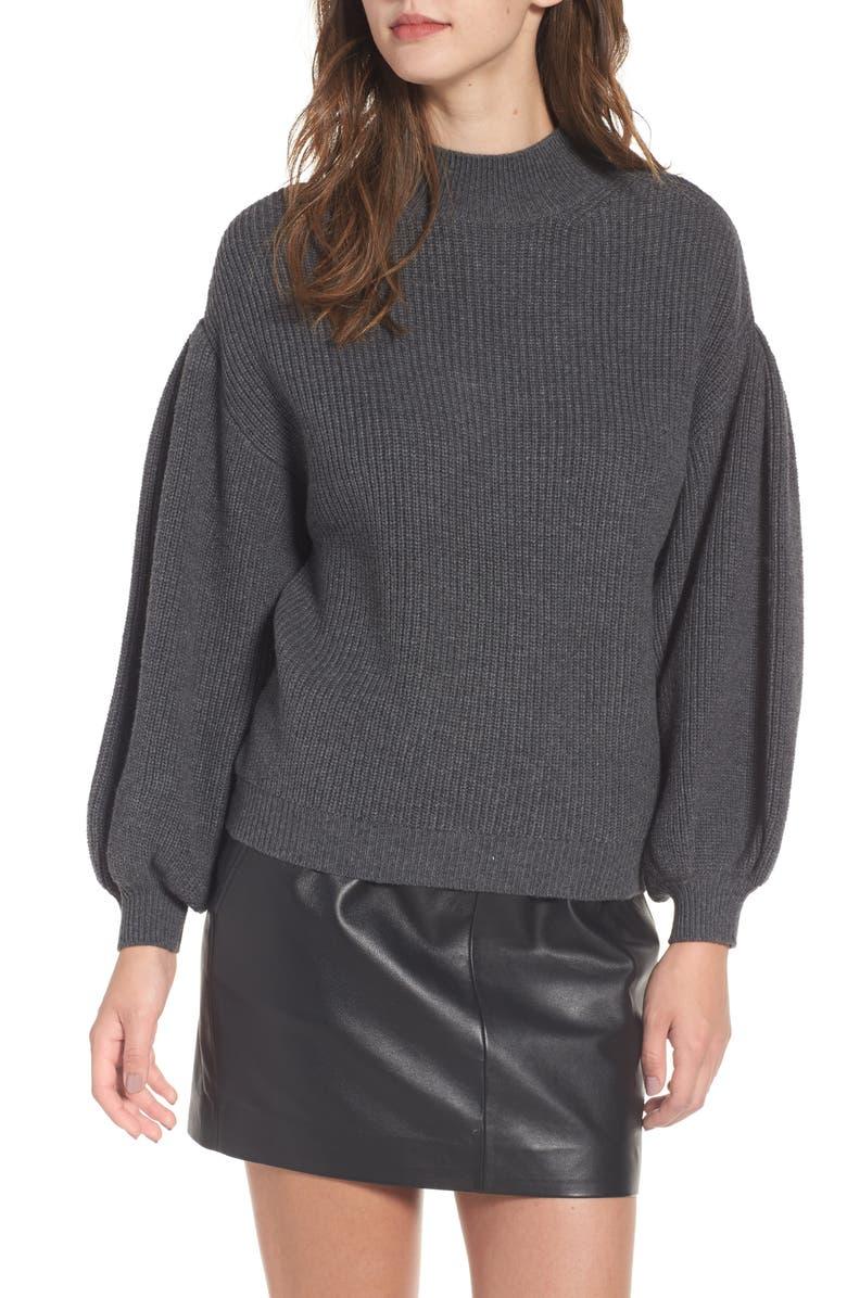 LEITH Blouson Sleeve Sweater, Main, color, 031