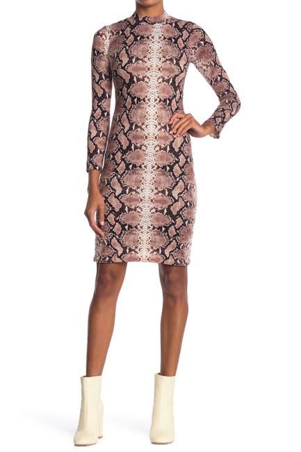 Image of Velvet Torch Snakeskin Print Bodycon Dress