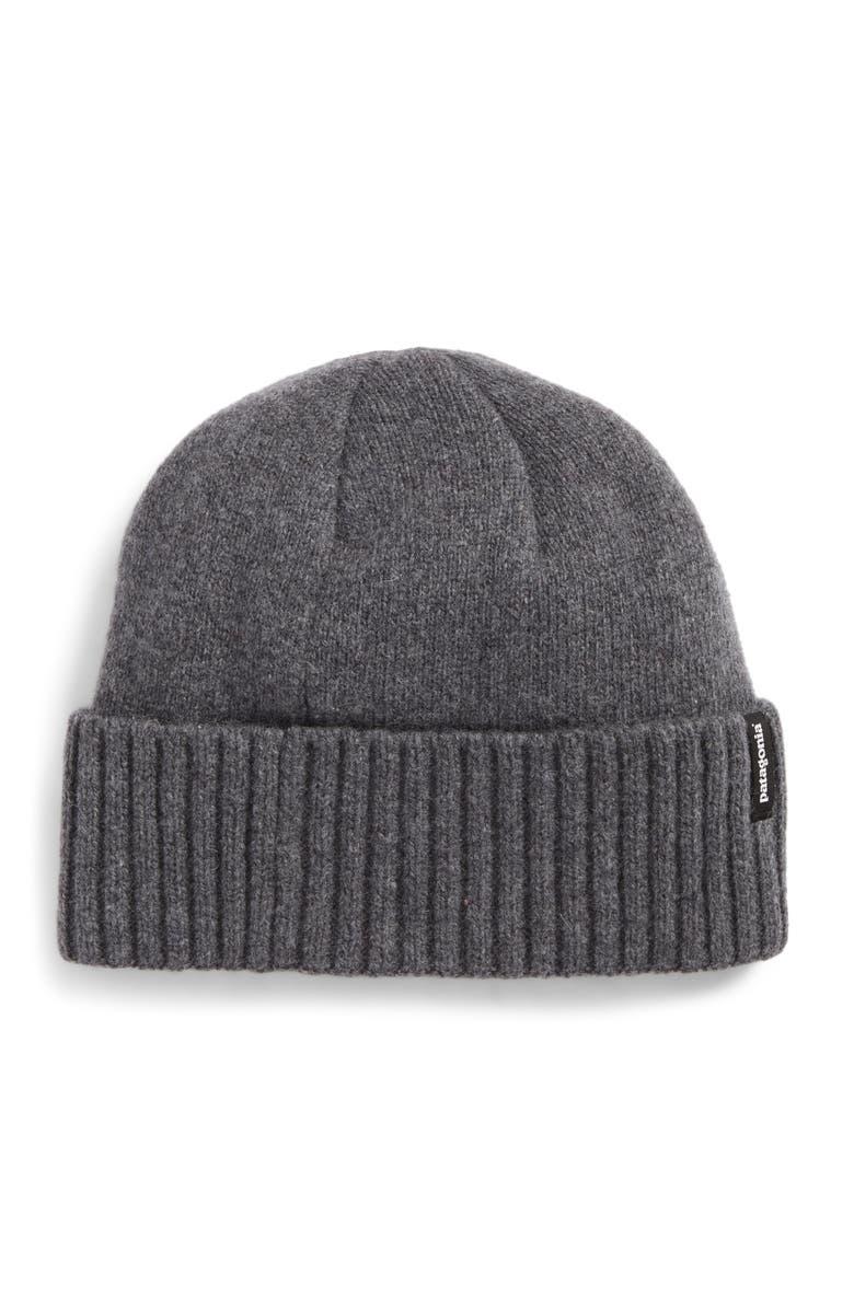 PATAGONIA Brodeo Wool Stocking Cap, Main, color, GREY