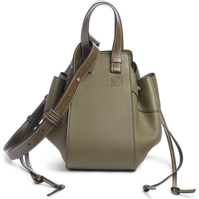 Loewe Small Hammock Calfskin Leather Shoulder Bag - Green
