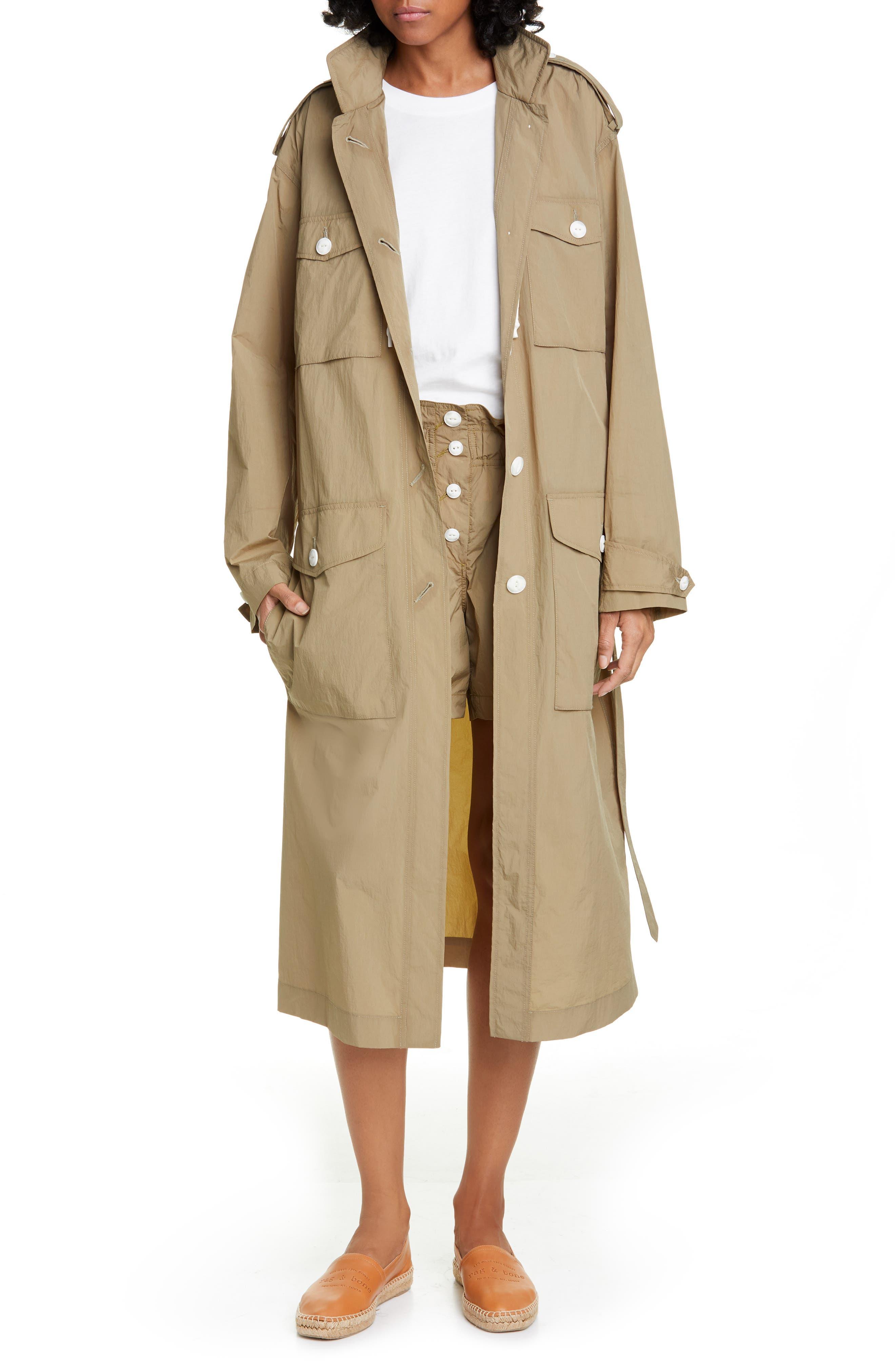 Rag & Bone Maude Nylon Coat Dress, Green