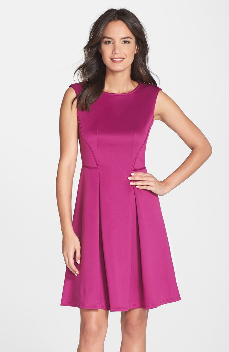 Gabby Skye Scuba Fit Amp Flare Dress Nordstrom