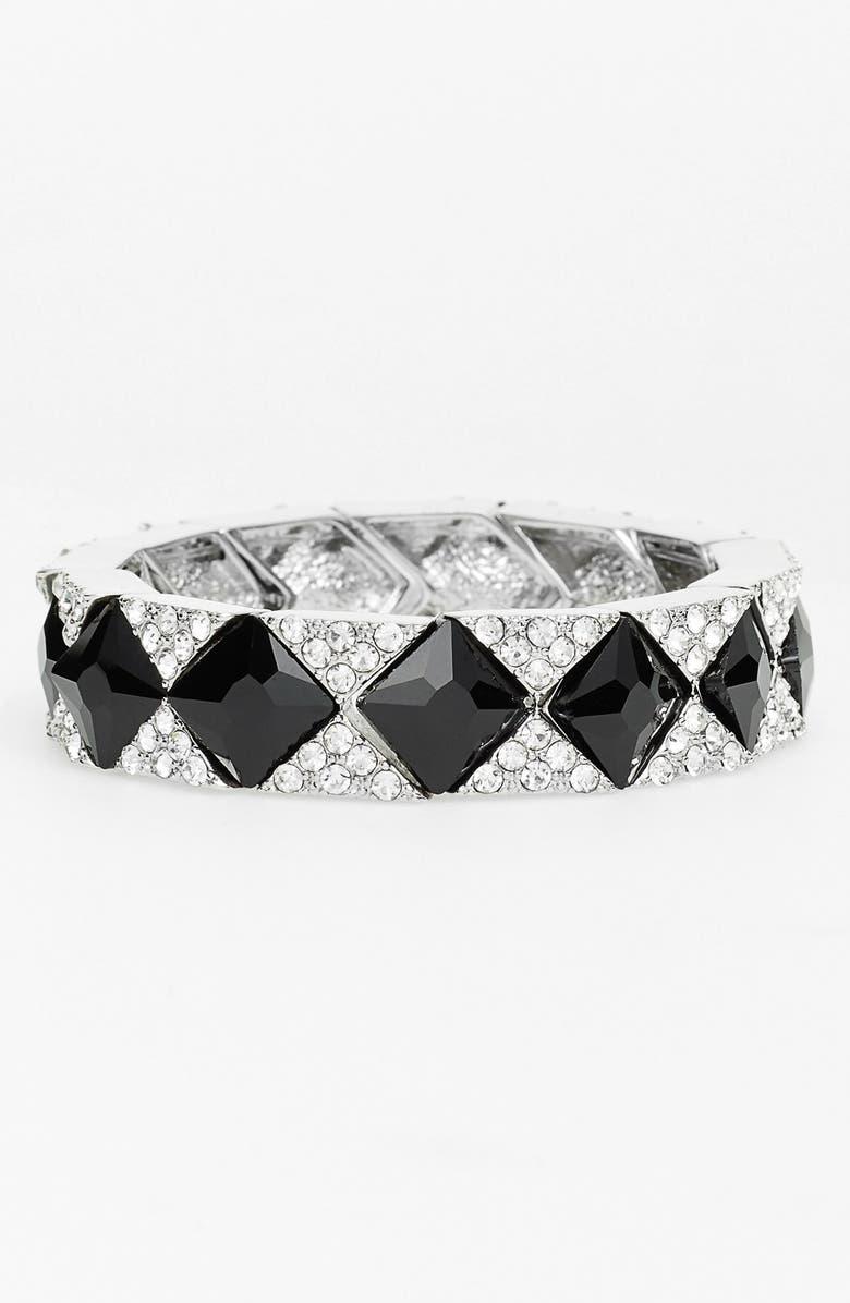 NATASHA COUTURE 'Jack' Crystal Stretch Bracelet, Main, color, 001