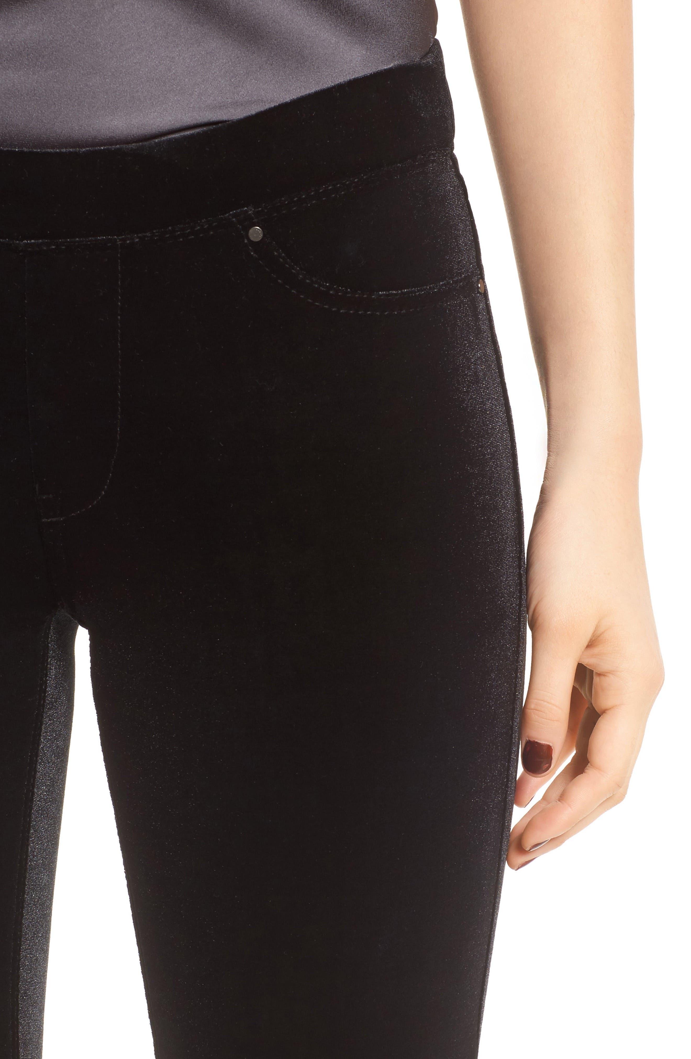 ,                             Velvet Flare Pants,                             Alternate thumbnail 17, color,                             001