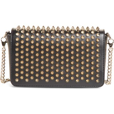 Christian Louboutin Zoompouch Spiked Leather Clutch -