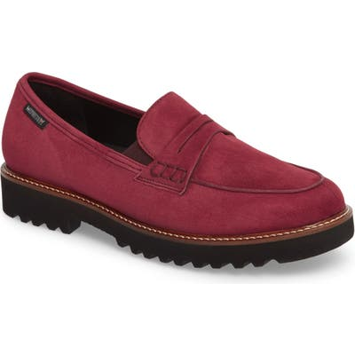 Mephisto Sidney Penny Loafer- Red