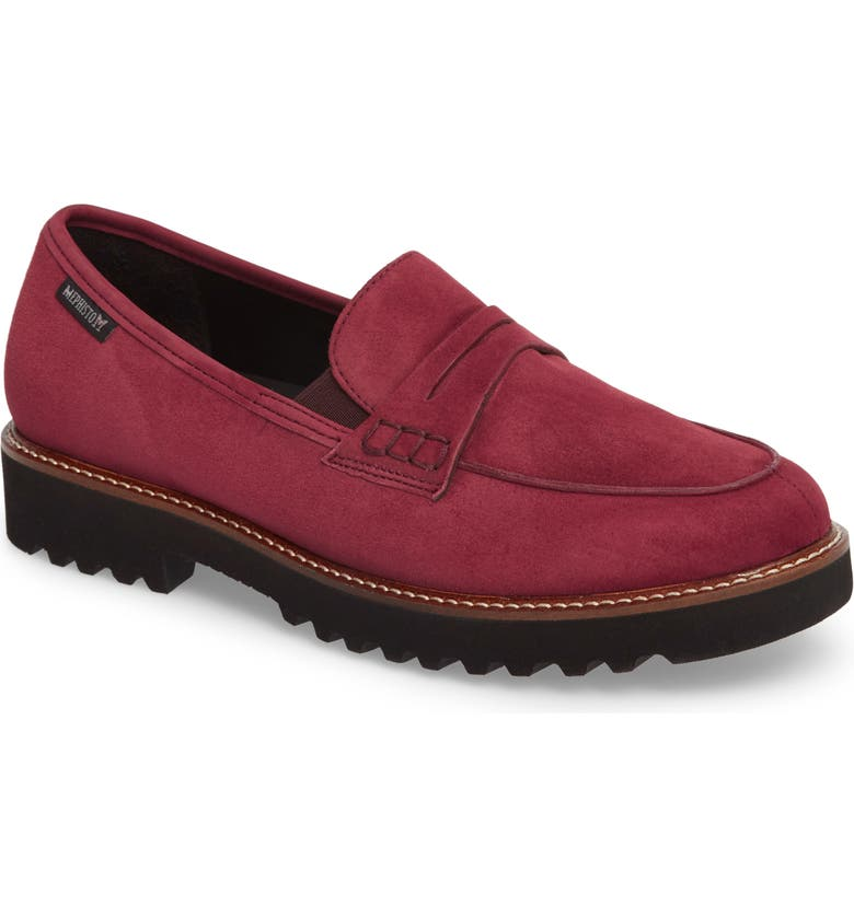 MEPHISTO Sidney Penny Loafer, Main, color, CHIANTI SUEDE