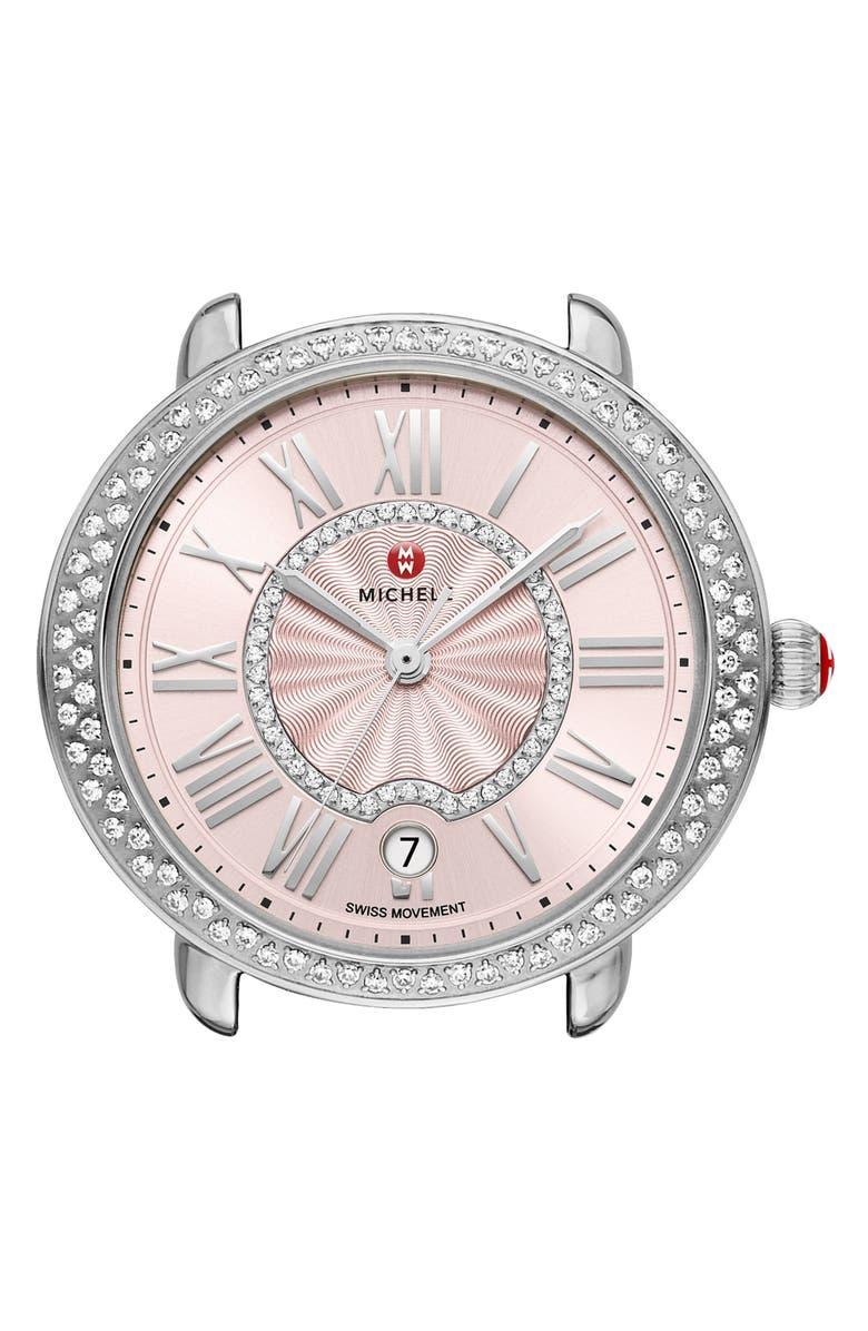 MICHELE Serein Mid Diamond Watch Head, 36mm x 34mm, Main, color, 040