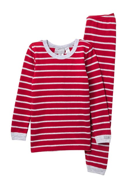 Image of Coccoli Striped Knit Pajama Set