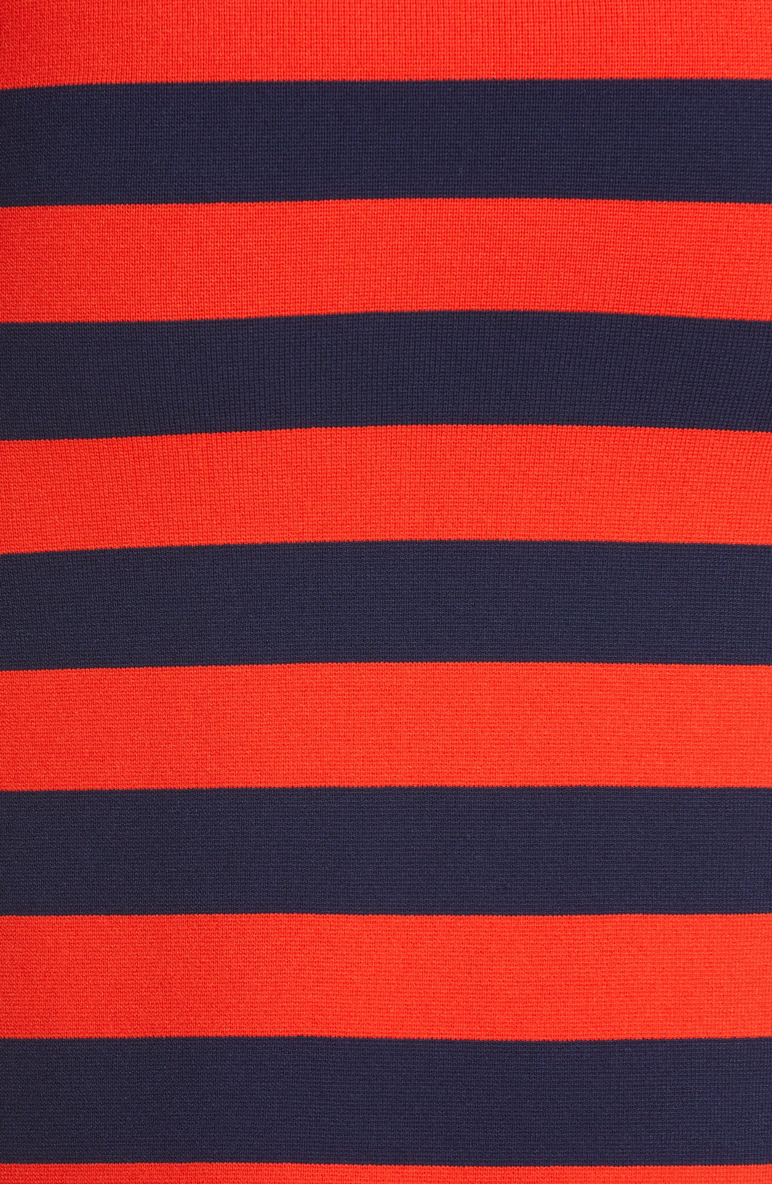 ,                             Broome Stripe Sweater,                             Alternate thumbnail 5, color,                             RED MULTI
