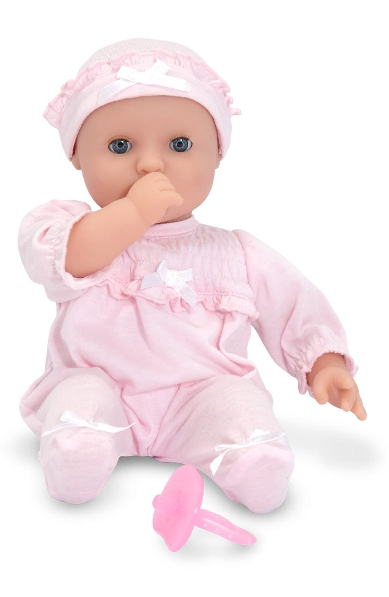 MELISSA & DOUG 'Mine to Love - Jenna' Baby Doll, Main, color, PINK