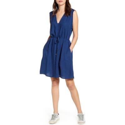 Splendid Willow Sleeveless Tie Waist Dress, Blue