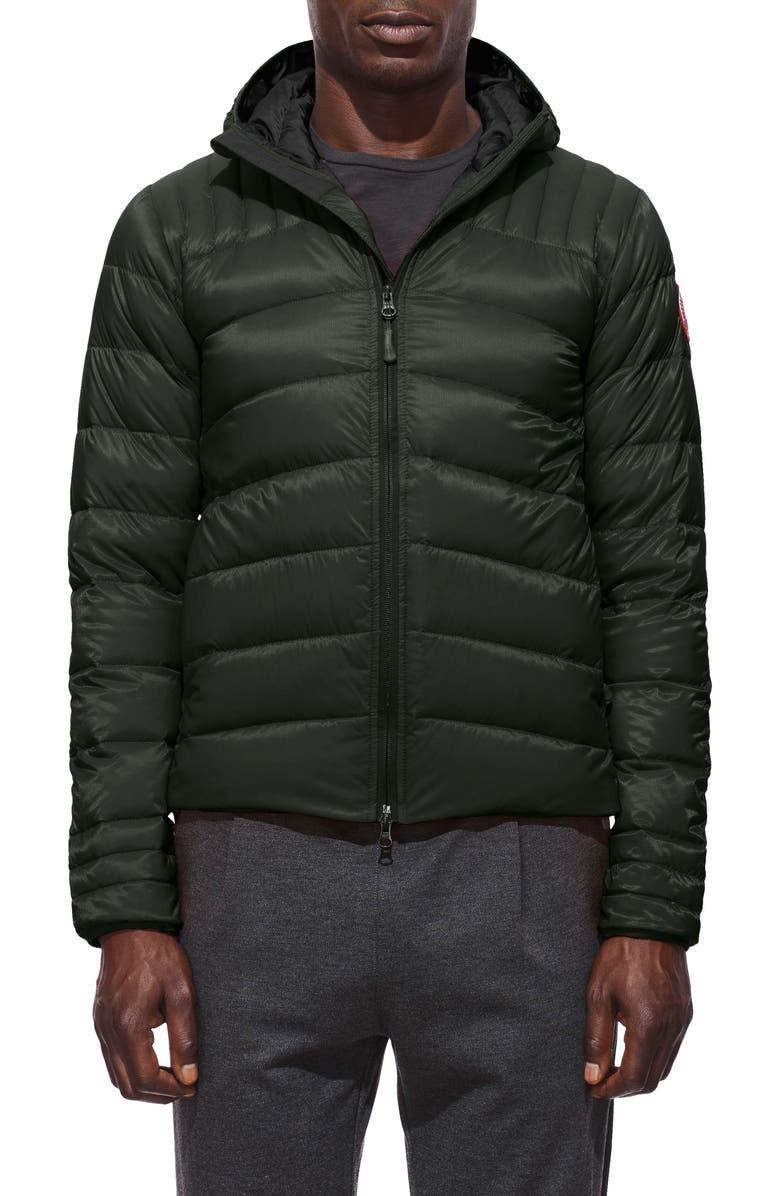 CANADA GOOSE Brookvale Slim Fit Hooded Down Jacket, Main, color, 021