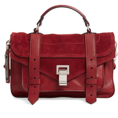 Proenza Schouler Tiny Ps1 Luxe Leather Satchel - Red