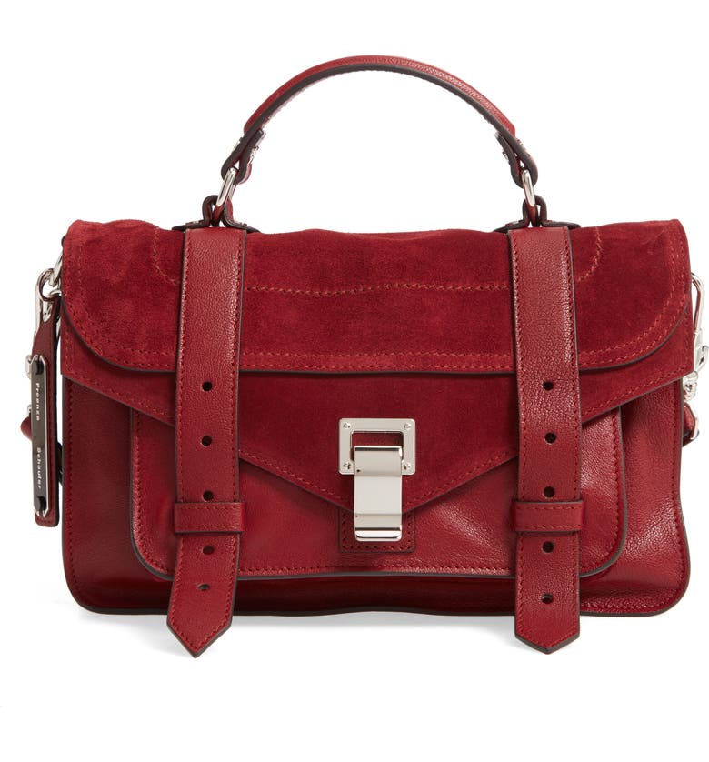 PROENZA SCHOULER Tiny PS1 Luxe Leather Satchel, Main, color, 600
