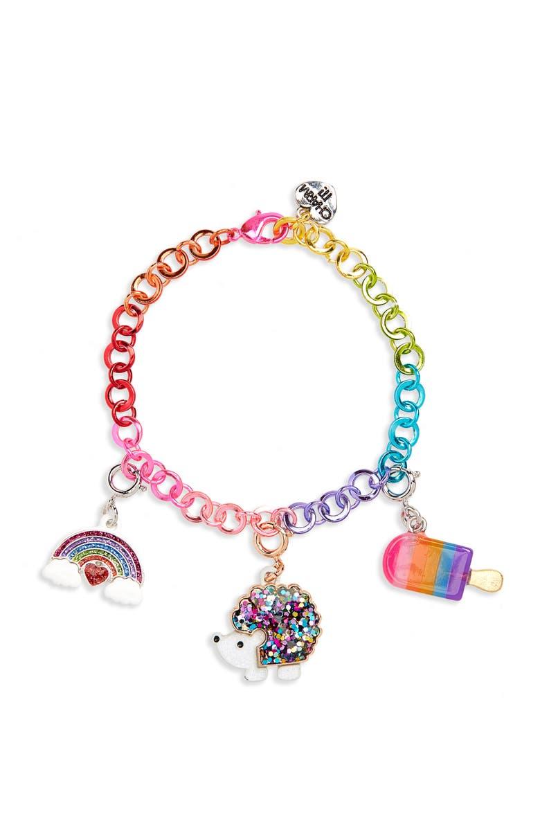 CHARM IT!<SUP>®</SUP> Rainbow Hedgehog Charm Bracelet Gift Set, Main, color, 000
