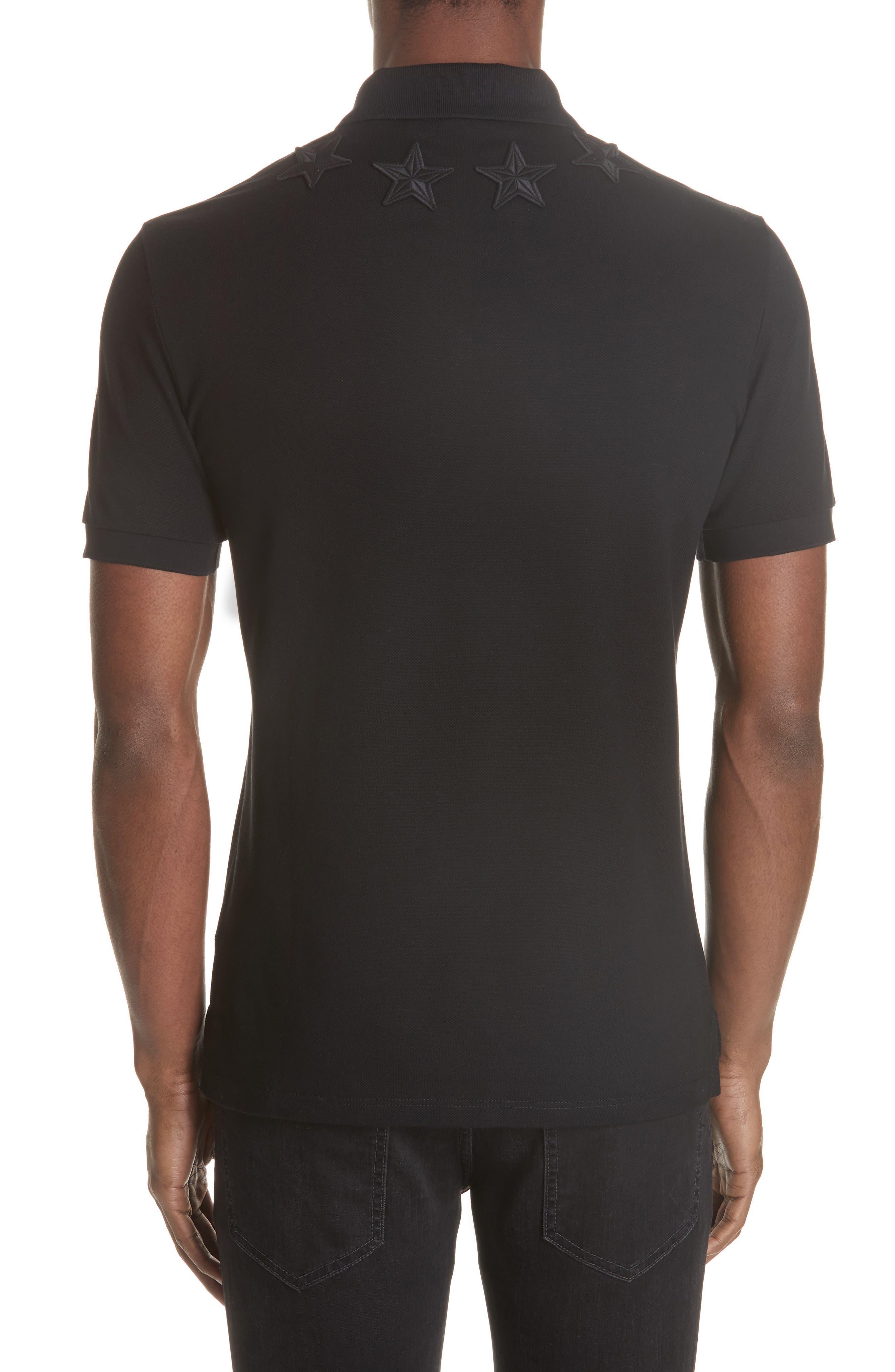 ,                             Star Polo Shirt,                             Alternate thumbnail 2, color,                             FADED BLACK