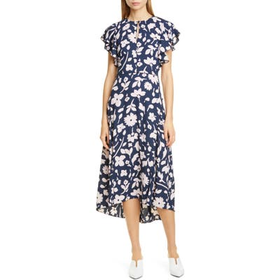 Kate Spade New York Splash Midi Dress, Blue