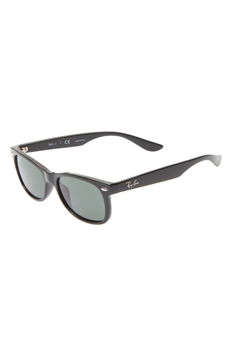 RAY-BAN Junior 47mm Wayfarer Sunglasses, Main, color, 001