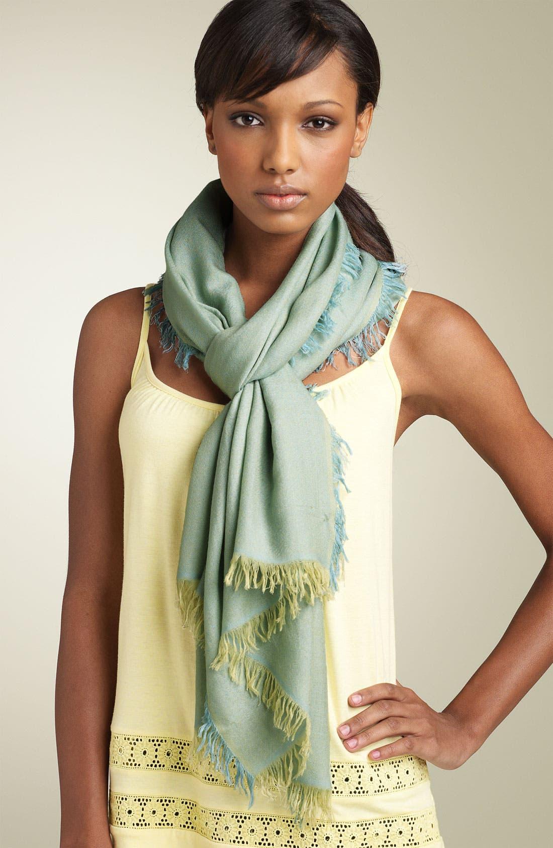 ,                             'Eyelash' Colorblock Cashmere Wrap,                             Main thumbnail 57, color,                             463