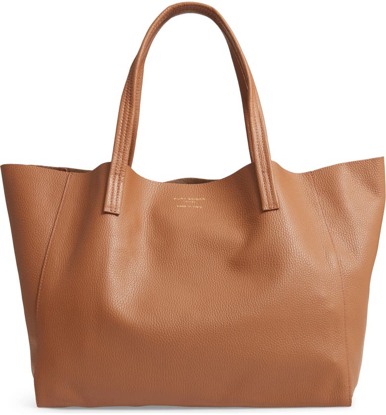 KURT GEIGER LONDON Violet Leather Tote, Main, color, TAN