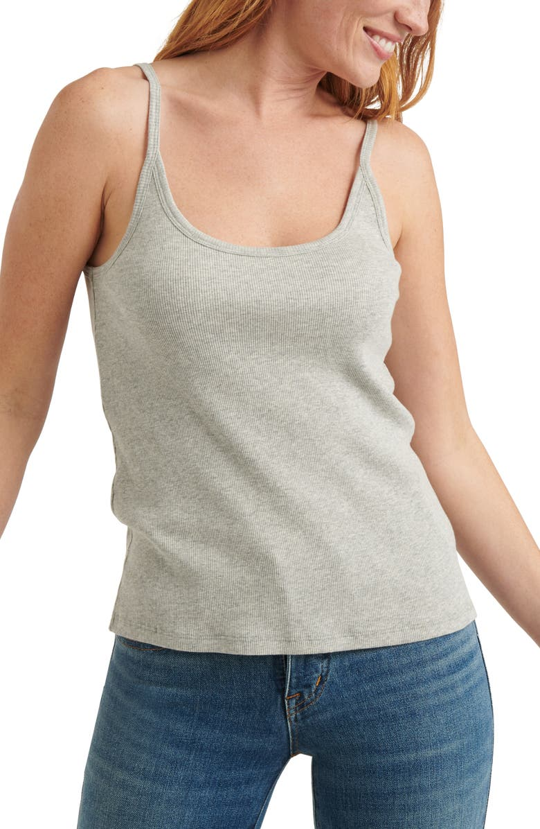LUCKY BRAND Essential Rib Camisole, Main, color, 030