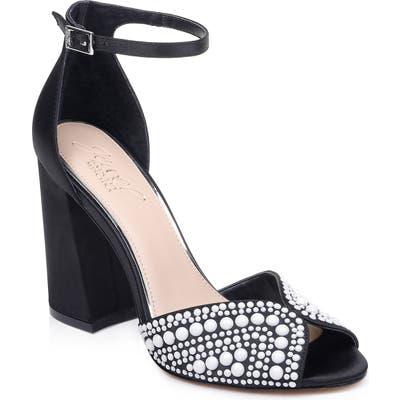 Jewel Badgley Mischka Serenity Ankle Strap Sandal, Black