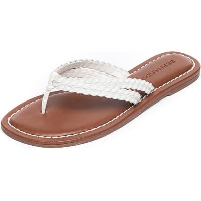 Bernardo Mariah Flip Flop, White