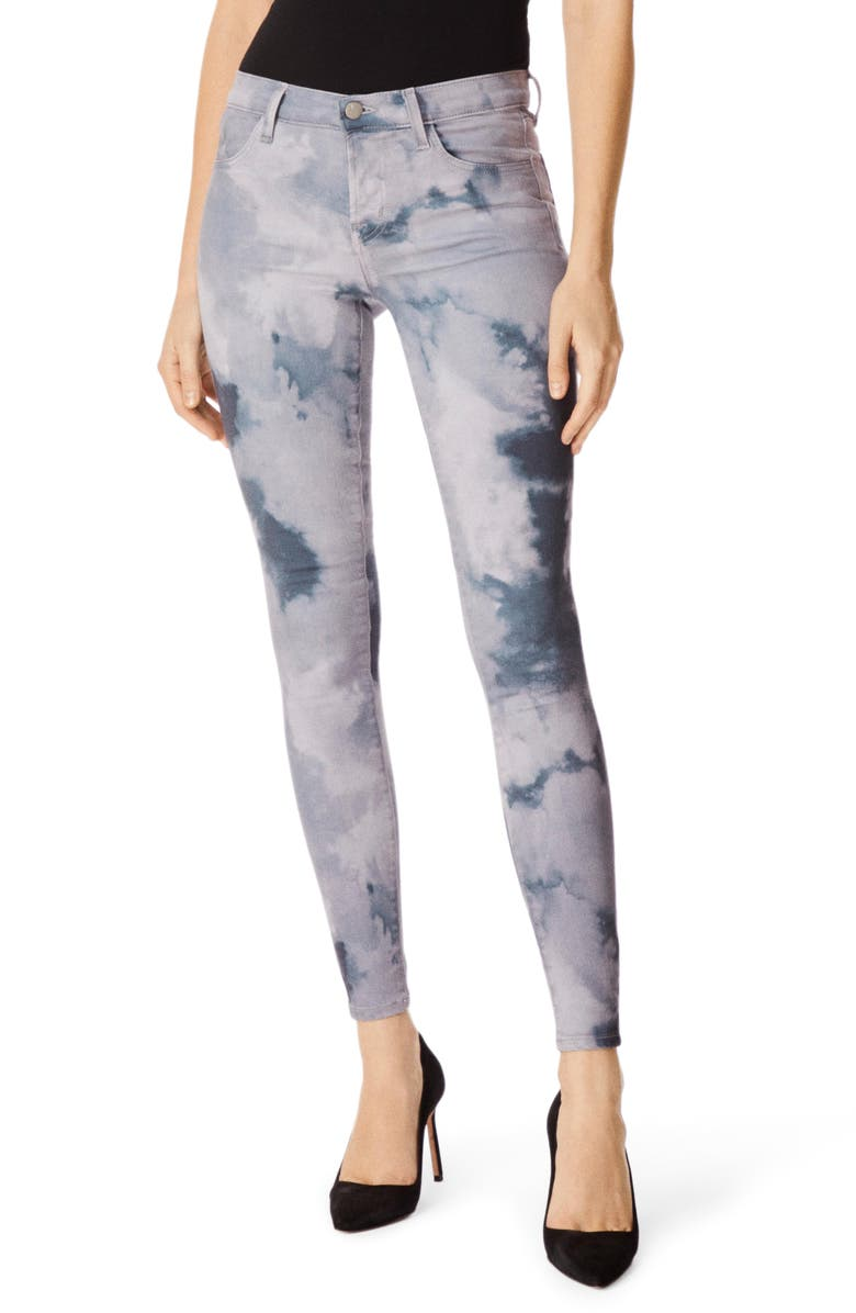 J BRAND 620 Tie Dye Super Skinny Jeans, Main, color, PILEUS