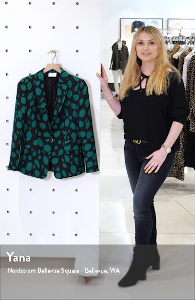 Animal Dot Print Wool Jersey Jacket, sales video thumbnail