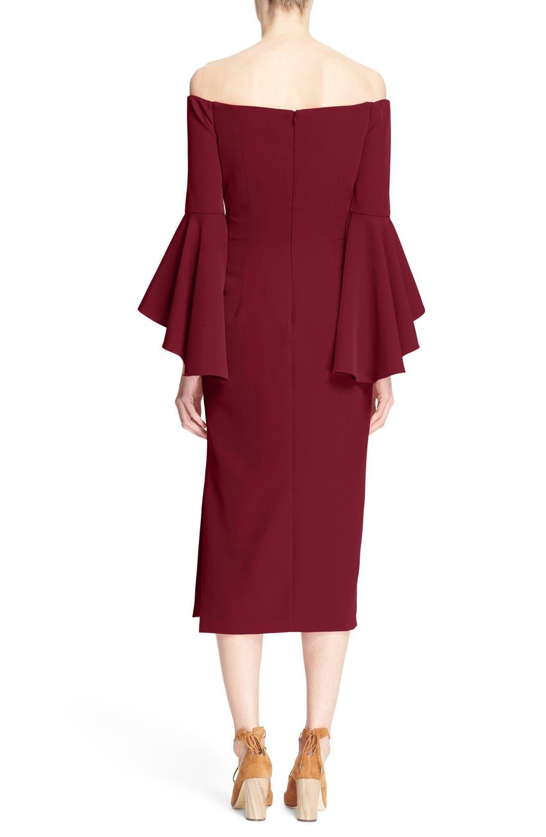 ,                             Selena Off the Shoulder Midi Dress,                             Alternate thumbnail 50, color,                             507