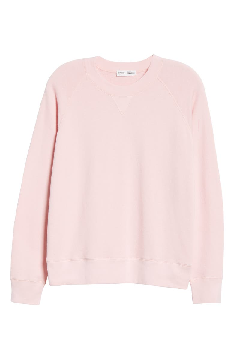 ENTIREWORLD French Terry Sweatshirt, Main, color, PINK