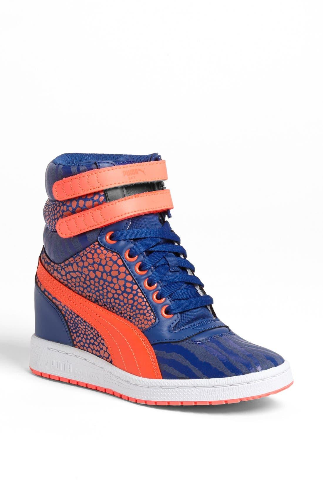 ,                             'Sky Wedge Reptile' Sneaker,                             Main thumbnail 5, color,                             460